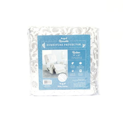 Protector de sillon ashby - estampado 4 colores reclinable
