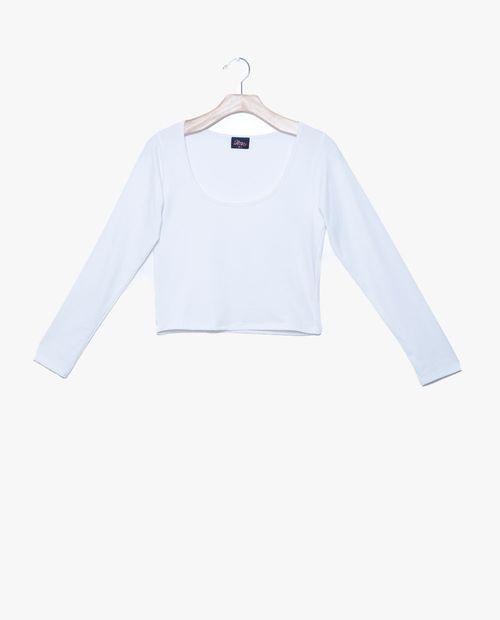 Blusa  manga larga blanco