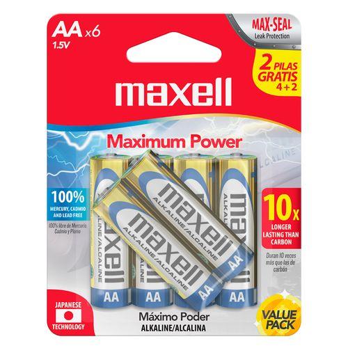 Bateria alcalina aa - 4+2 pack