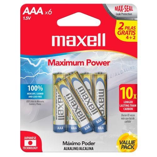 Bateria alcalina AAA 4+2 pack