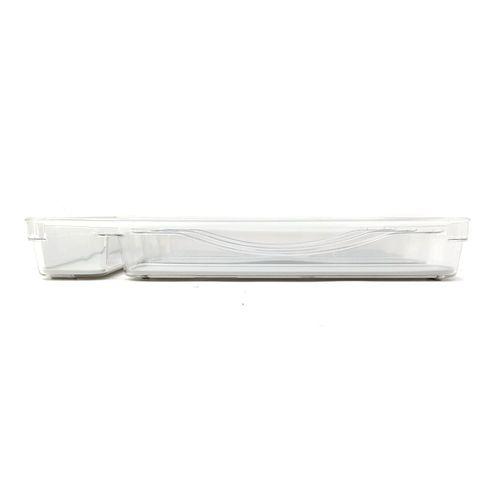 Bandeja para cubiertos transparente de 5 compartimentos