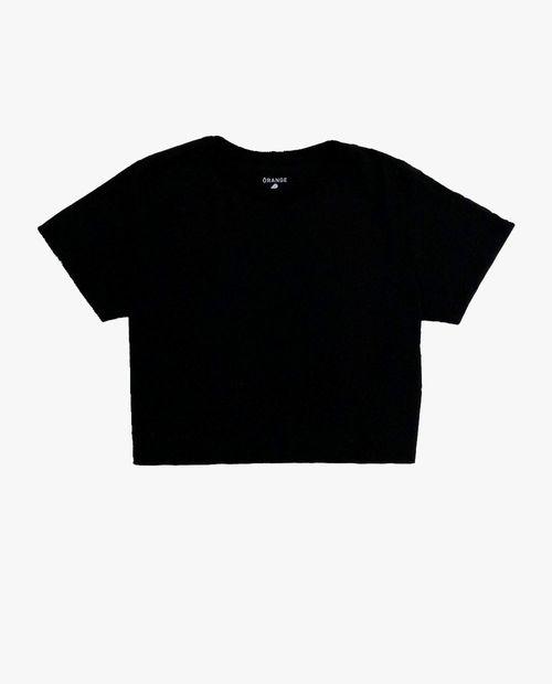 Blusa boxy crop negra