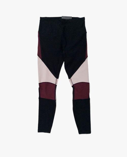Legging 7/8 color blocking negro/rojo oscuro