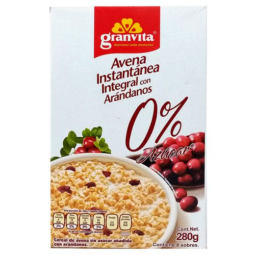 Avena inst 0% azúcar arándanos 280g