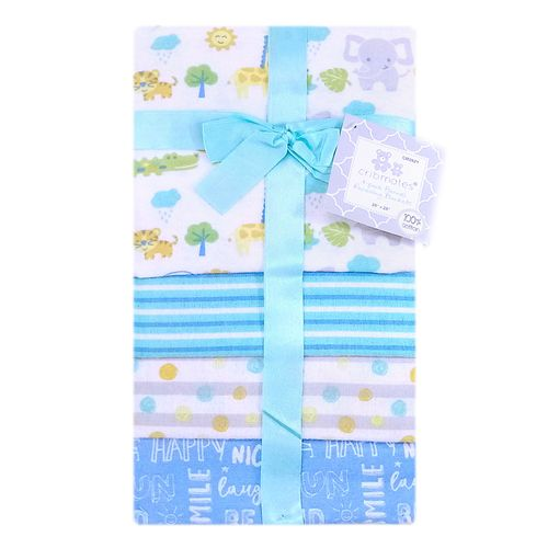 4 pack de frazadas estampadas para niño