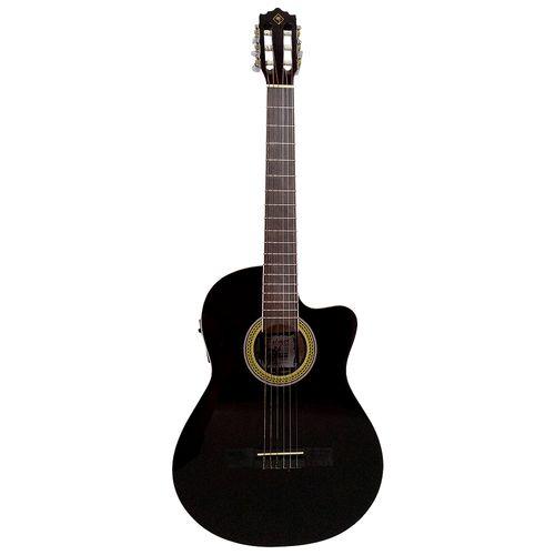 Guitarra electroacústica negra
