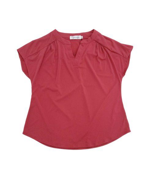 Blusa  manga corta rojo
