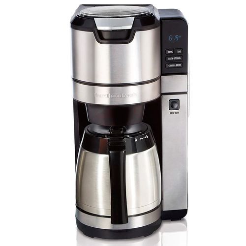 Cafetera de molienda programable 1-4 tazas