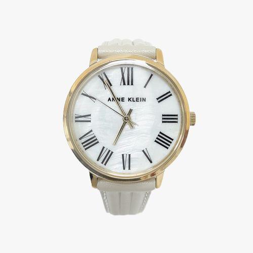 Reloj análogo cuero blanco dama