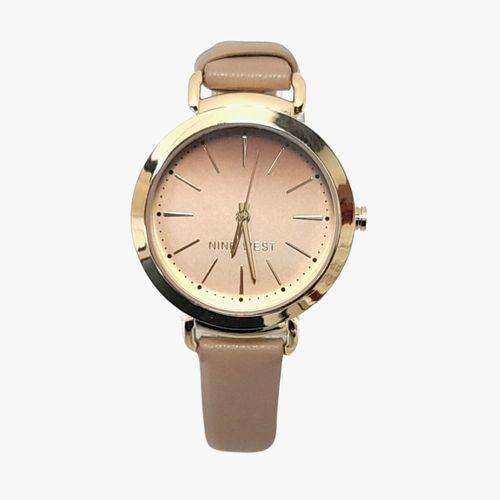 Reloj análogo cuero beige dama