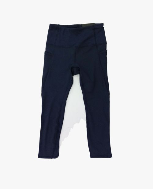 Legging capri solida azul oscuro