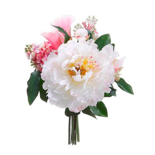 Bouquet peony rosada/lila/blanco 11in