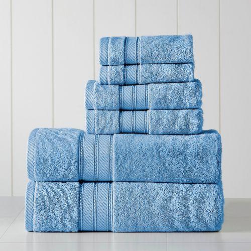 Set de toallas spun loft 6pc 600gsm azul