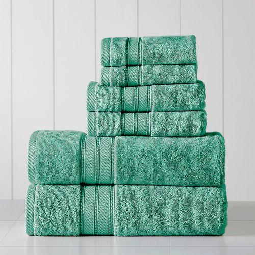 Set de toallas spun loft 6pc 600gsm eucalipto