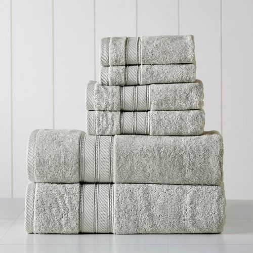 Set de toallas spun loft 6pc 600gsm gris claro