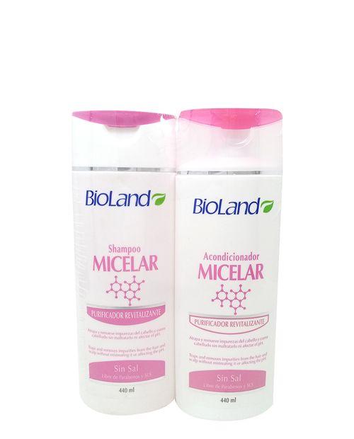 Bioland Shampoo & Acondicionador Micelar 440ml