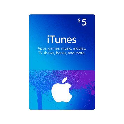 Itunes código digital $5