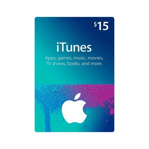 Itunes código digital $15