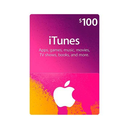 Itunes código digital $100