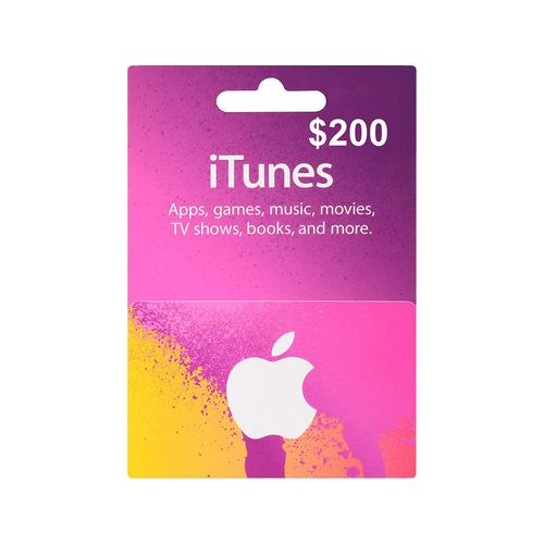 Itunes código digital $200