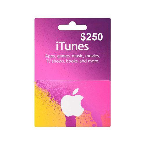 Itunes código digital $250