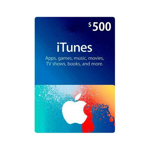 Itunes código digital $500