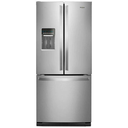 Refrigeradora french door 20pcu c/disp agua y hielo led acero inox