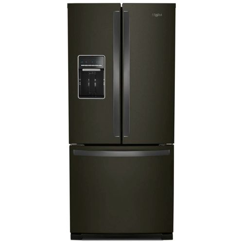 Refrigeradora french door 20pcu c/disp agua y hielo led black stainless