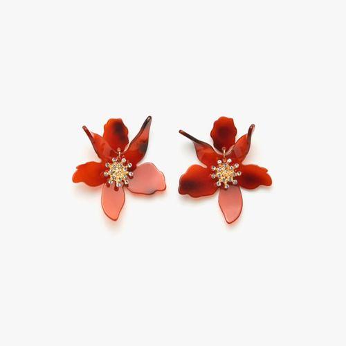 Aretes maxi flor resina