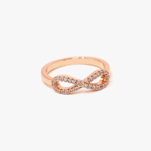 Anillo de acero oro rosa talla 7