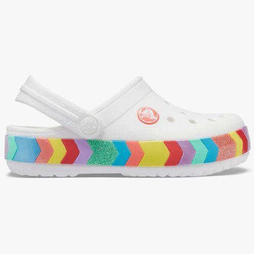 Calzado crocs blanco multi para niña
