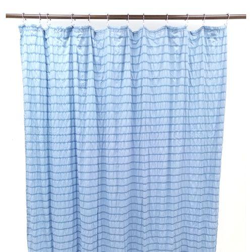 Cortina de ducha 70x72in camila crinkled azul