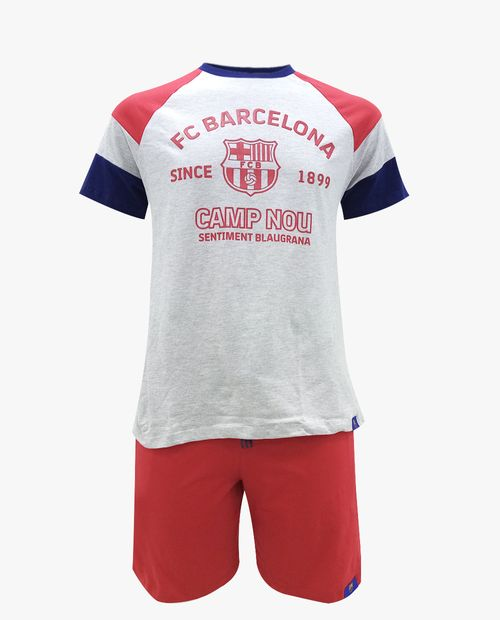 Pijama hombre Camp Nou para caballero short camisa manga corta marino