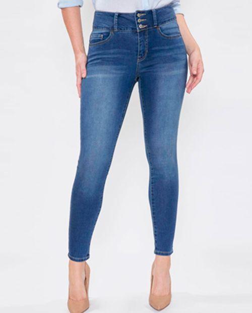 Jeans básico skinny 3 botones