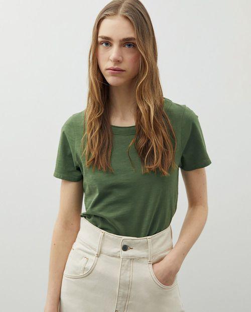 Camiseta algodón slub khaki