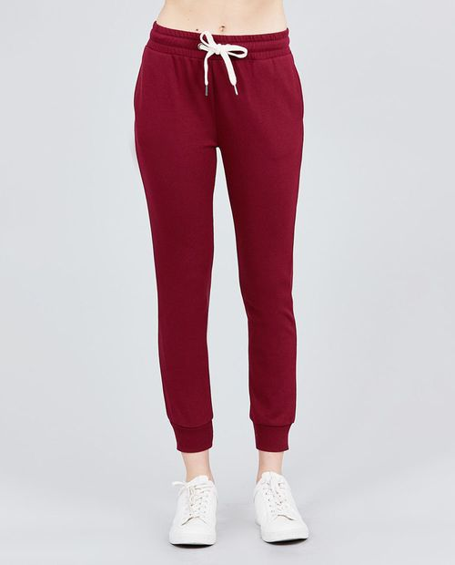 Jogger pants burgundy vino