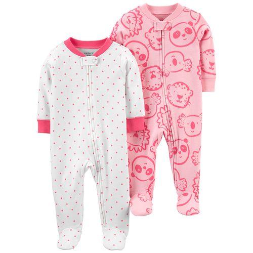 2 pack pijama de piecitos puntos y koala rosa