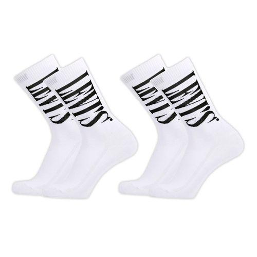 2pack calcetines para caballero serif white