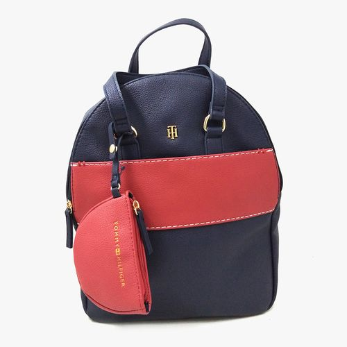 Cartera backpack tommy hilfiger color tommy navy para dama