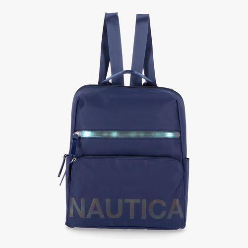 Cartera backpack nautica color azul para dama