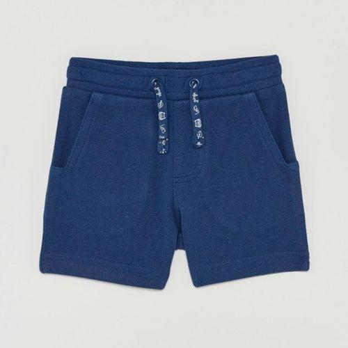 Short de felpa azul para niño