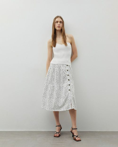 Falda blanco