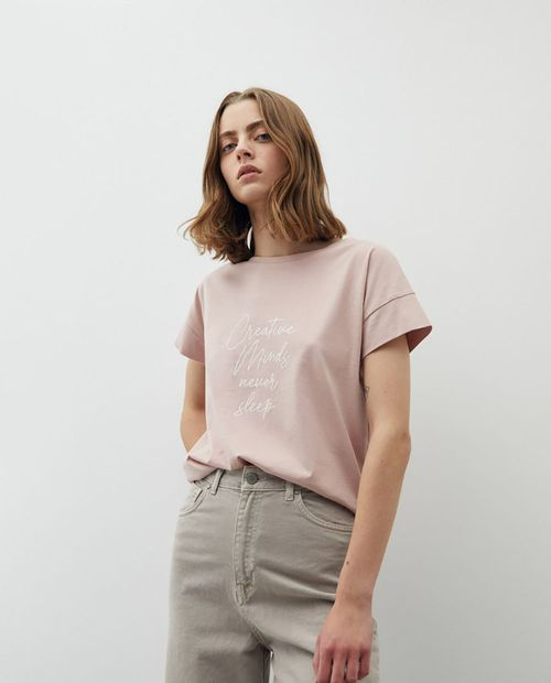 Camiseta  rosado