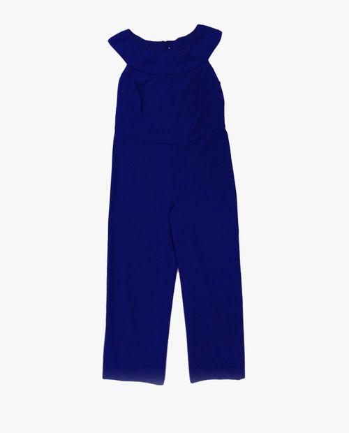 Jumpsuit cobalt azul solido sm