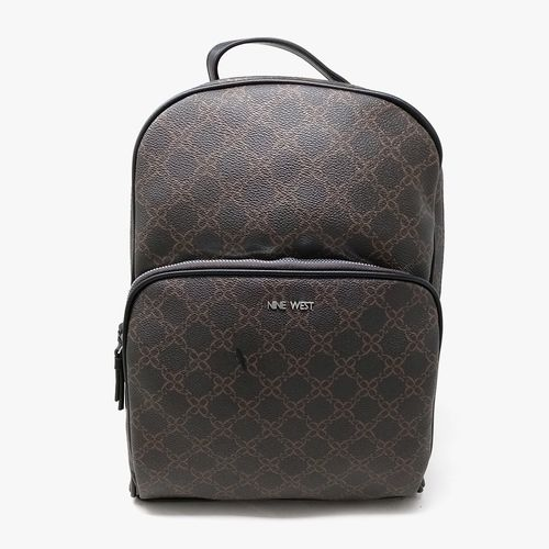 Cartera backpack  nine west color negro  para dama