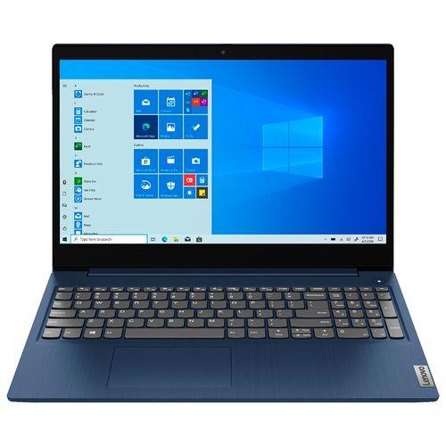 "Laptop de 15"" ideapad 3 touchscreen intel ci3-10110u 8gb - 256 ssd azul"