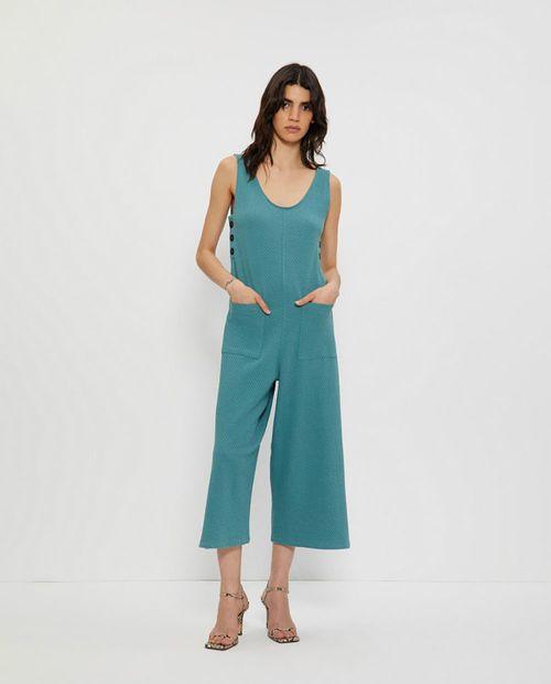 Jumpsuit tejido especial verde medio