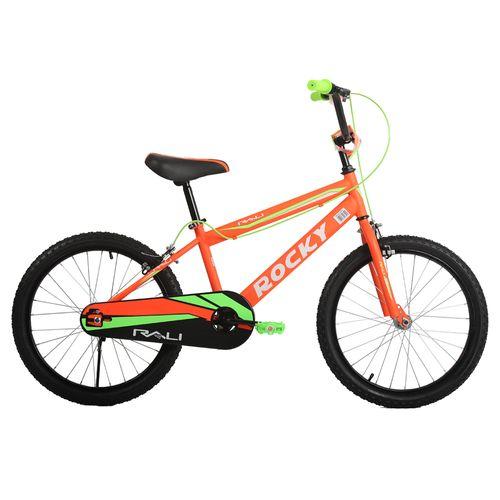 Bicicleta rali rocky rin 20 naranja para niño bmx