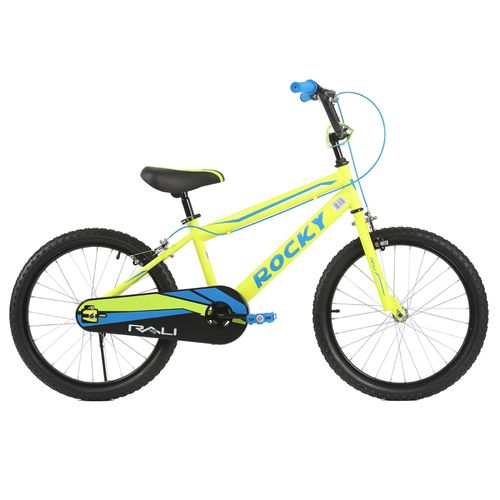 Bicicleta rali rocky rin 20 amarillo para niño bmx