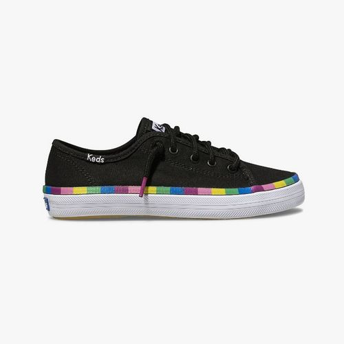 Calzado casual keds kickstart seasonal negro/multi arcoiris para niña